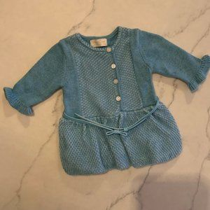 Mayoral Baby Blue Woven Dress